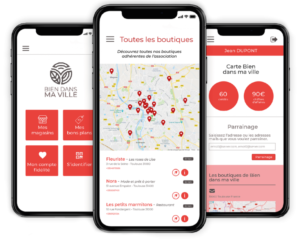 Application mobile d'un programme de fidélité multi-commerce
